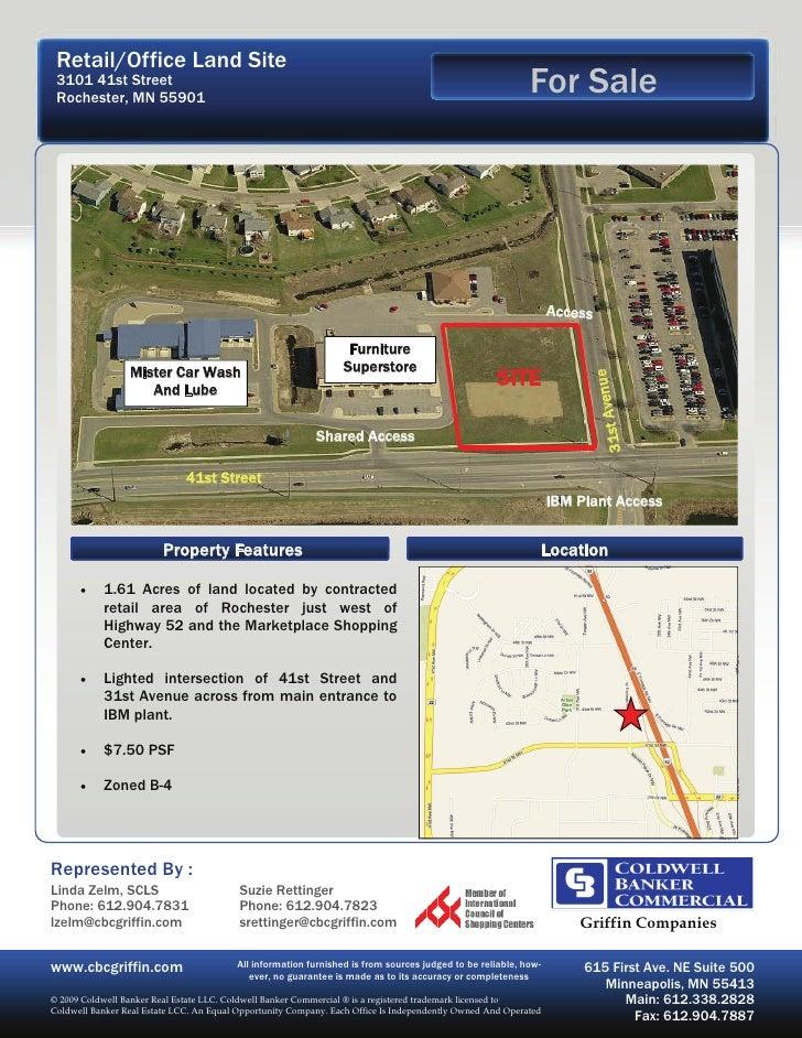 Retail/Office Land Site  3101 41st Street  Rochester, MN 55901                                                            ...