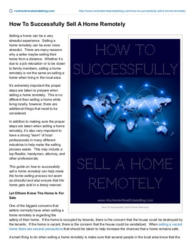 rochesterrealestateblog.com http://www.rochesterrealestateblog.com/how-to-successfully-sell-a-home-remotely/ How To Succes...