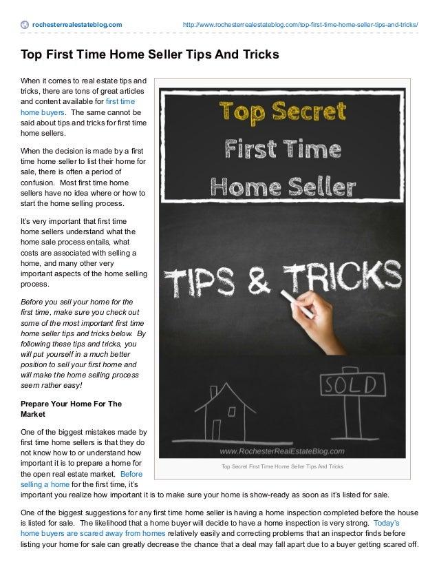 rochesterrealestateblog.com http://www.rochesterrealestateblog.com/top-first-time-home-seller-tips-and-tricks/ Top Secret ...