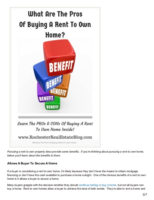 Guide To Buying A Rent To Own Home
