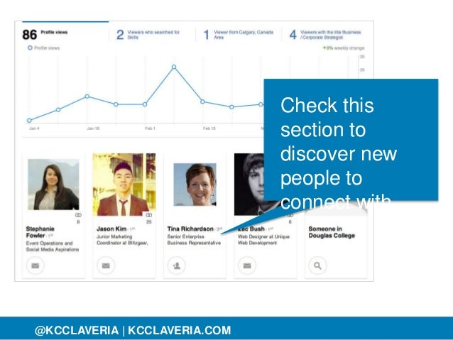 @KCCLAVERIA@KCCLAVERIA | KCCLAVERIA.COM Check this section to discover new people to connect with.