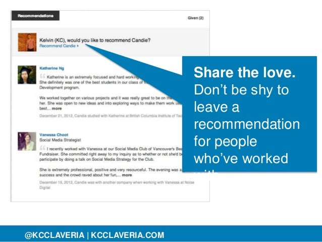 @KCCLAVERIA@KCCLAVERIA | KCCLAVERIA.COM Share the love. Don't be shy to leave a recommendation for people who've worked wi...