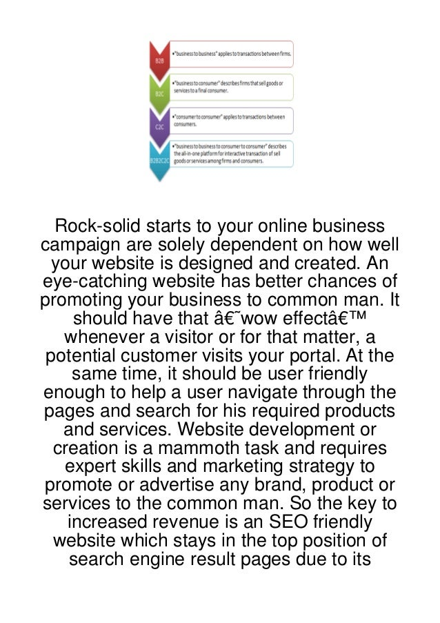 Rock-solid starts to your online businesscampaign are solely dependent on how well your website is designed and created. A...
