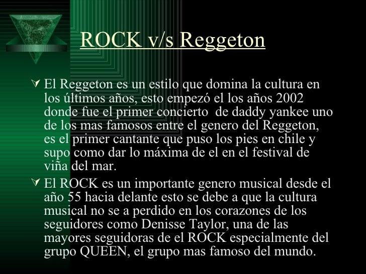 Rock Vs Reggeton Slide 3