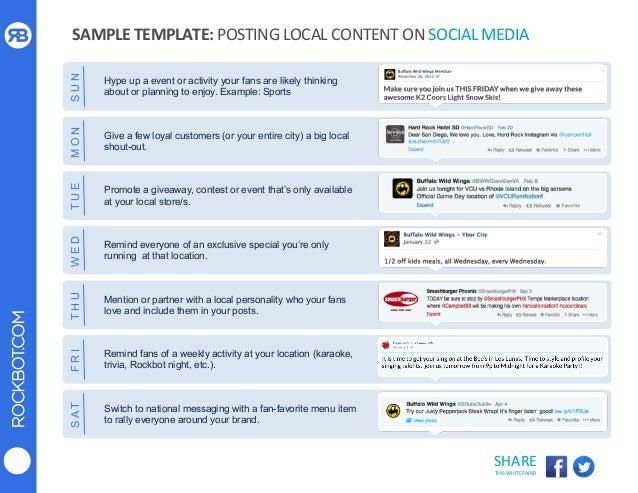 Using Local Social Media Tactics To Grow Your Restaurant Brand - Social media event plan template