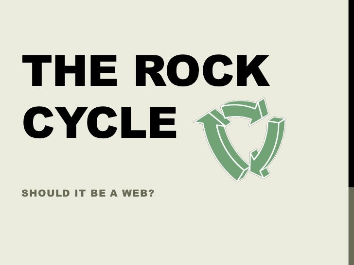 THE ROCKCYCLESHOULD IT BE A WEB?