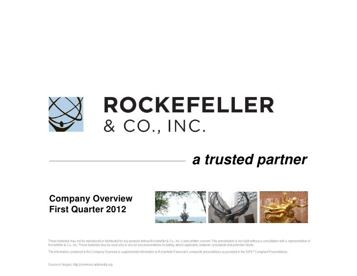 a trusted partnerCompany OverviewFirst Quarter 2012These materials may not be reproduced or distributed for any purpose wi...