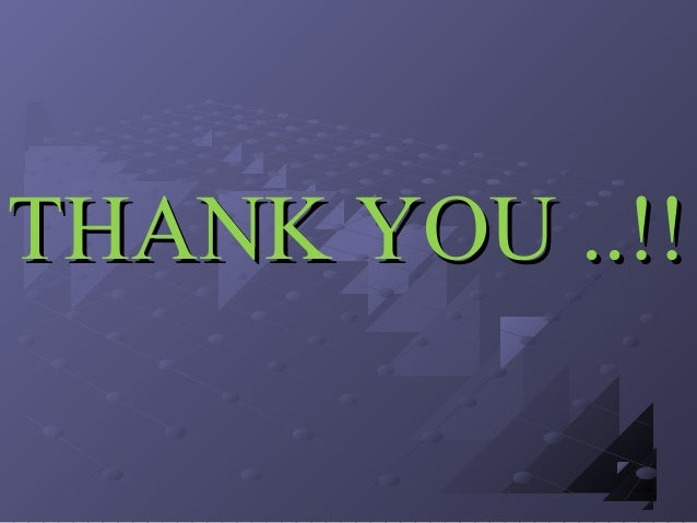 THANK YOU ..!!