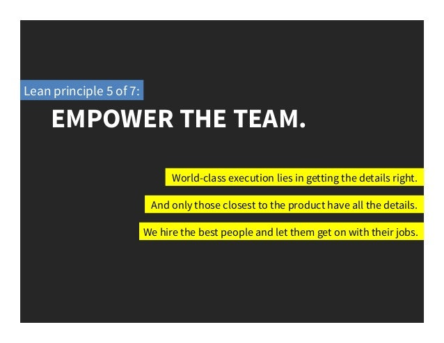 empower the team  lean principle