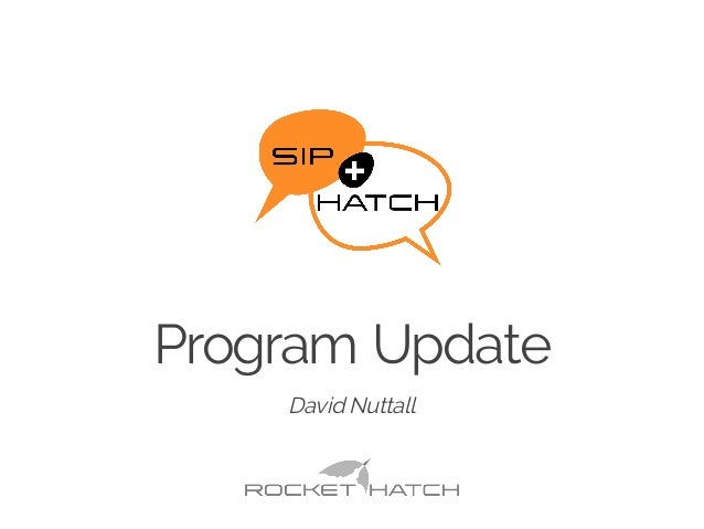 Program Update ​David Nuttall
