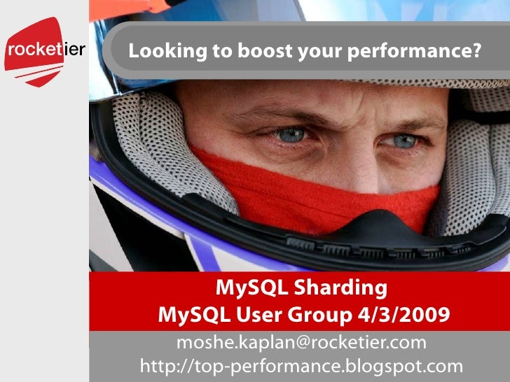 MySQL Sharding  MySQL User Group 4/3/2009 [email_address] http://top-performance.blogspot.com