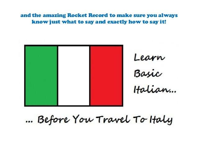 how to speak italian quickly