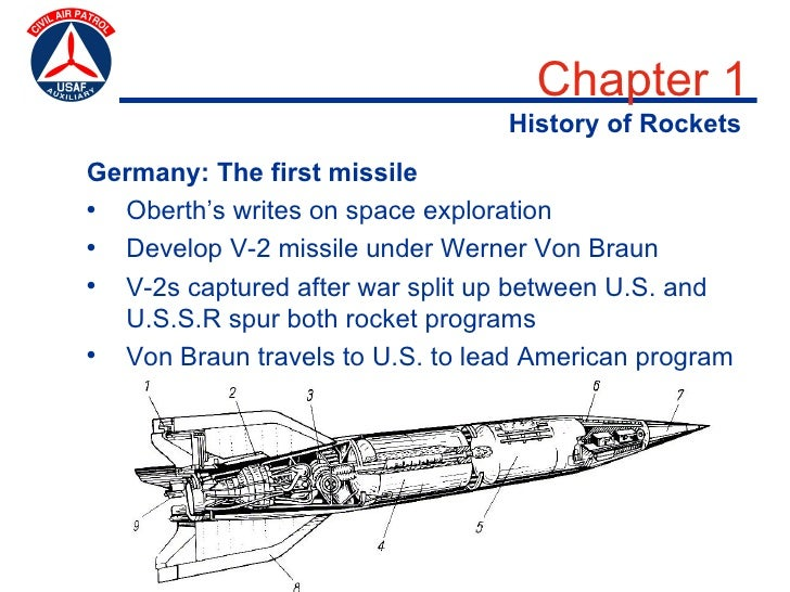 Chapter 1                                  History of Rockets Germany: The first missile • Oberth's writes on space explor...