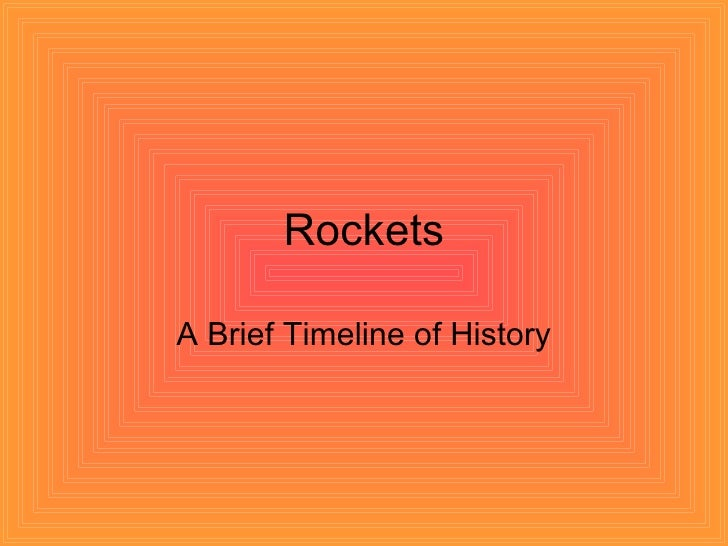 Rockets  A Brief Timeline of History