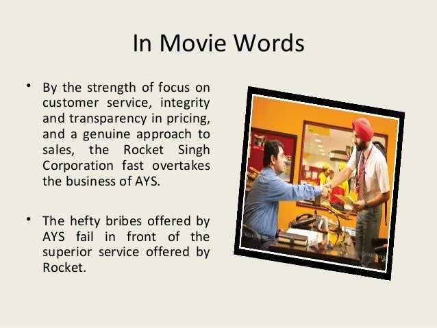 movie analysis rocket singh Movie: rocket singh: salesman of the year star: manish chaudhary tags: inspiration money 7 # 7 abhi unde se bahar nikle nahi aur butter chicken banonga bolte hai you've hardly come out of the egg and you're saying you want to become butter chicken.