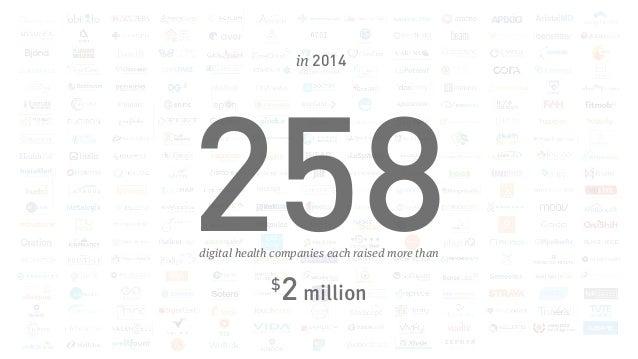 in 2014 258digital health companies each raised more than $ 2 million