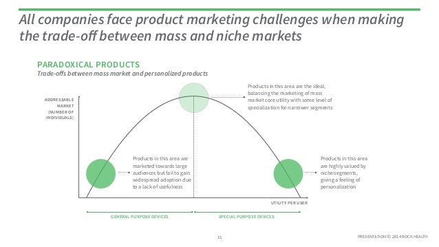 PRESENTATION © 2014 ROCK HEALTH Trade-offs between mass market and personalized products All companies face product marketi...