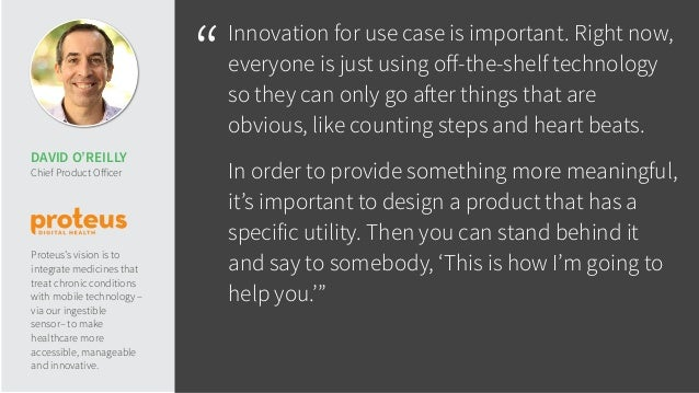 """""""Innovation for use case is important. Right now, everyone is just using off-the-shelf technology so they can only go after..."""