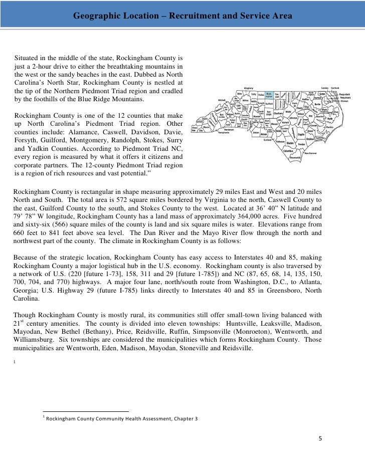 Rockingham County Head Start Community Assessment Report
