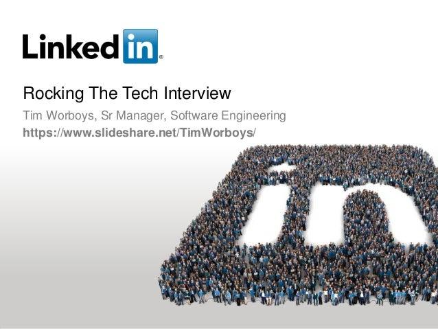 "Rocking The Tech InterviewRichard Park, UW Alum ""05, Senior Software EngineerTimothy Worboys, UW Alum ""12, Software Engineer"