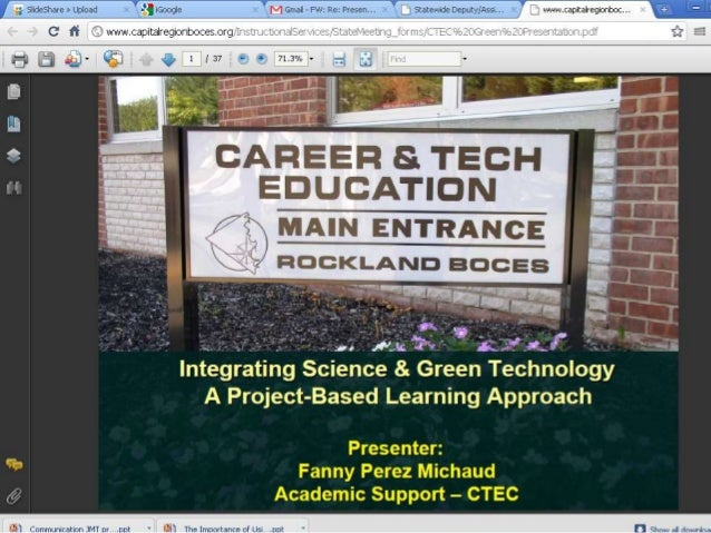 Nwriijil-t; $1'; r.v1:'n «I4,-11-. ».1.'> 7 V       Integrating Science & Green Technology A Project-Based Learning Approa...