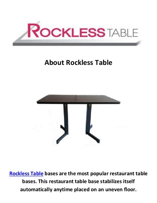 Rockless Table Auto Adjustable Restaurant Table Base - Adjustable table bases for restaurants