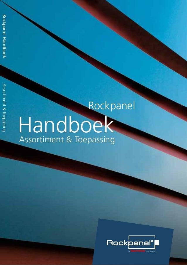 Rockpanel Handboek  Assortiment & Toepassing  Handboek Assortiment & Toepassing  Rockpanel