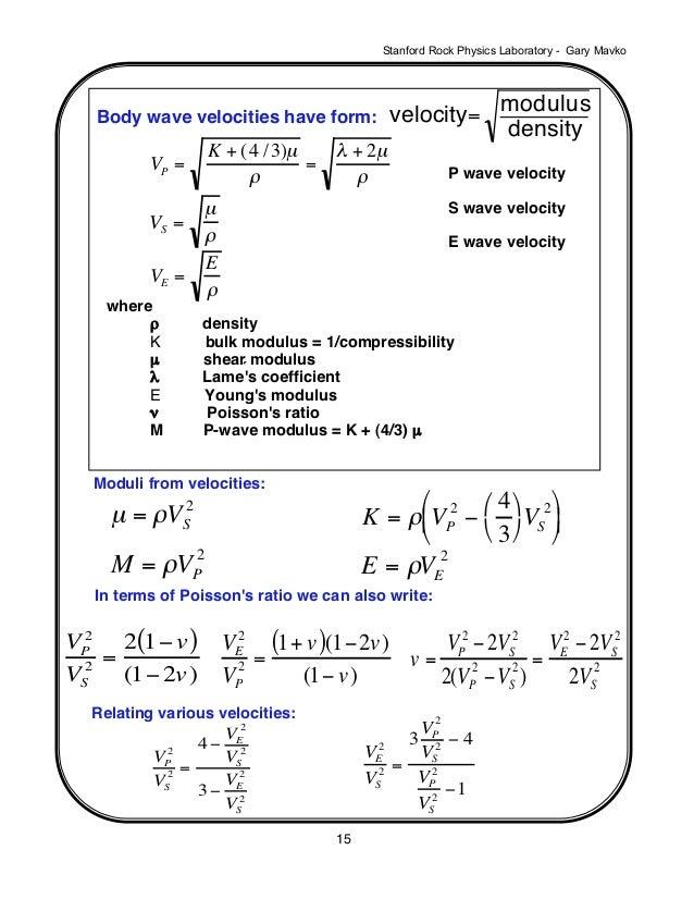... Basic Geophysical Concepts; 2.  Basic P&l Template
