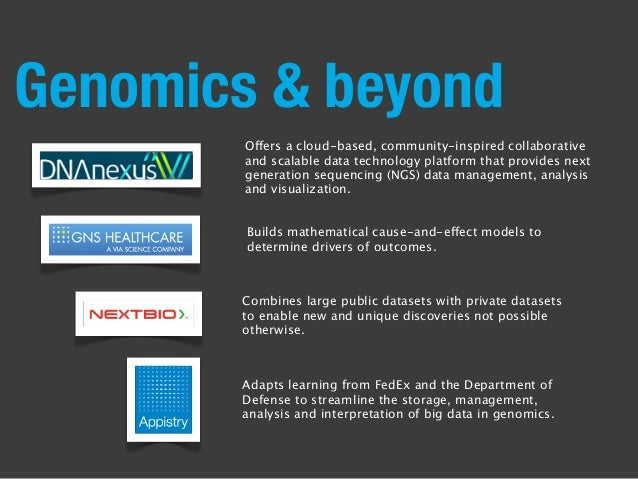 Genomics & beyond Offers a cloud-based, community-inspired collaborative and scalable data technology platform that provid...