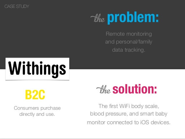 5 problem: Remote monitoring and personal/family data tracking. 5 solution: The first WiFi body scale, blood pressure, and ...