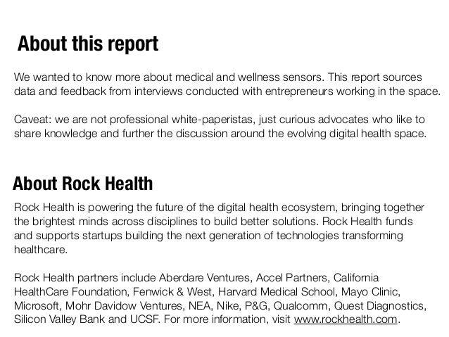Rock Report: Sensors by @Rock_Health Slide 2