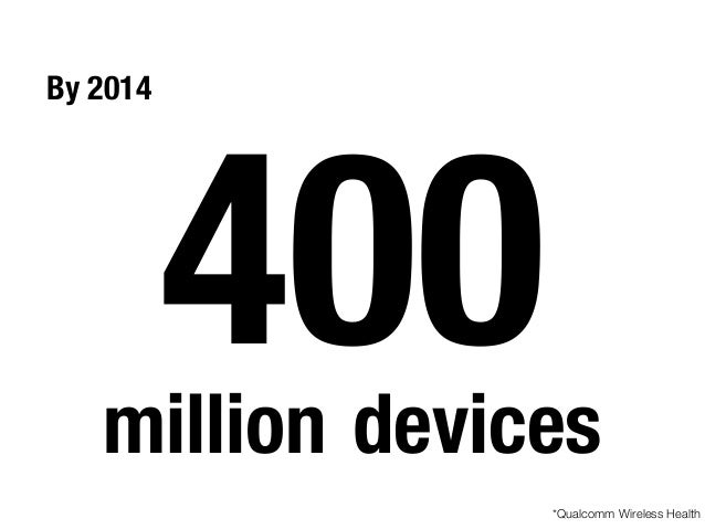By 2014 400million devices *Qualcomm