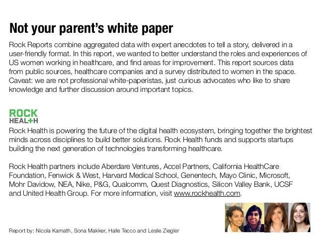 Women in Healthcare by @Rock_Health Slide 2