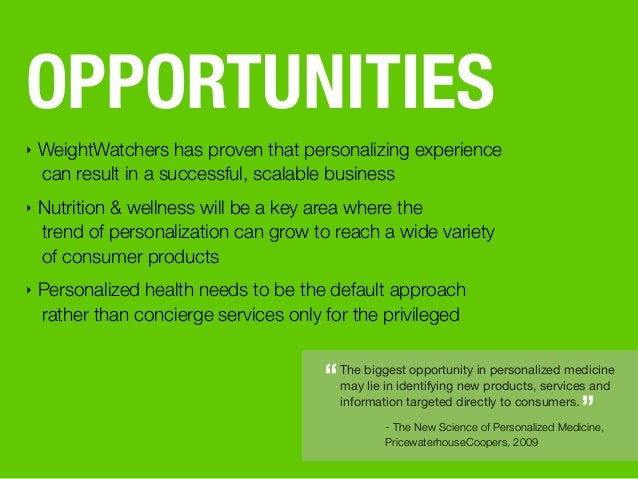 The biggest opportunity in personalized medicine may lie in identifying new products, services and information targeted di...