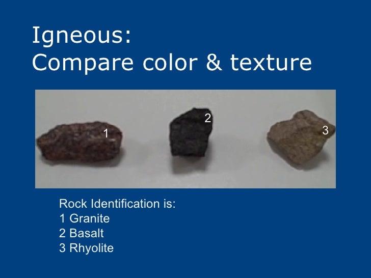 Granite Vs Basalt : Rocks igneous sedimentary metamorphic
