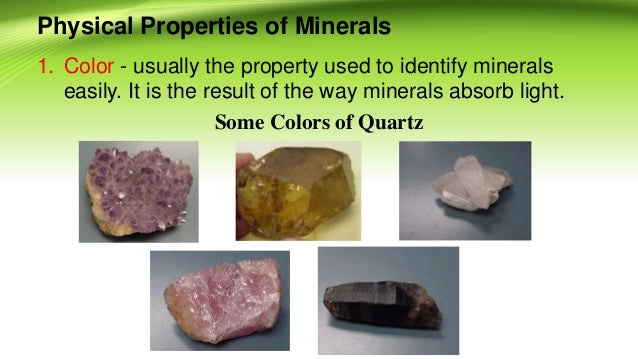 Rocks and minerals for grade 11