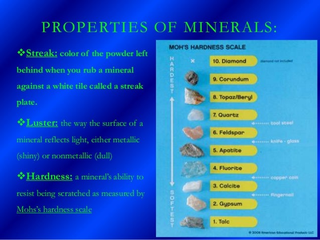 Mineral Properties, Uses and Descriptions