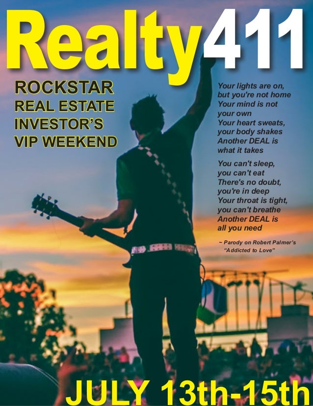 Realty411Your lights are on, but you're not home Your mind is not your own Your heart sweats, your body shakes Another DEA...