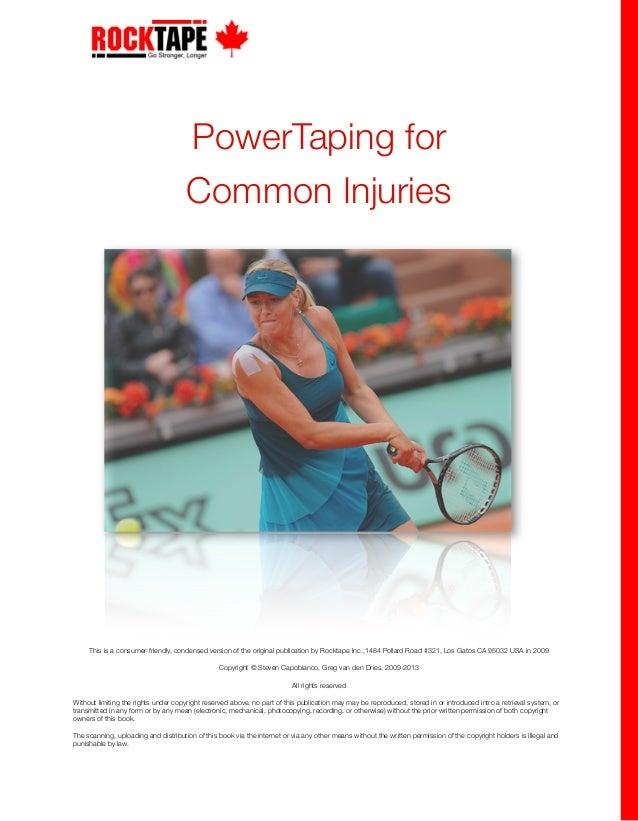 rock tape powertaping for common injuries rh slideshare net RockTape for Ankle Swelling RockTape for Ankle Swelling