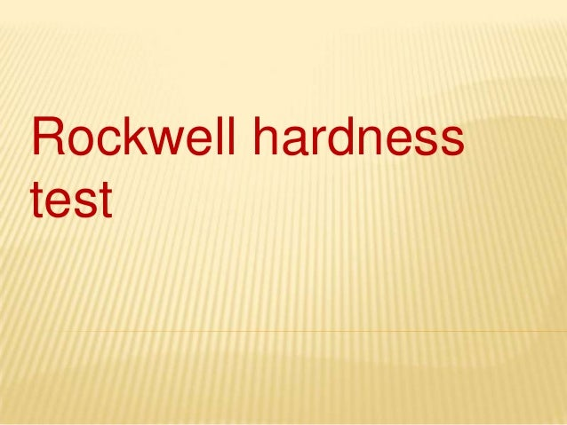 Rockwell hardnesstest