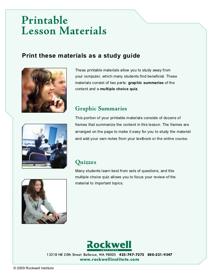 Printable     Lesson Materials     Print these materials as a study guide                                  These printable...