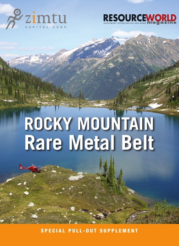 ROCKY MOUNTAINRare Metal Belt SPECIAL PULL-OUT SUPPLEMENT