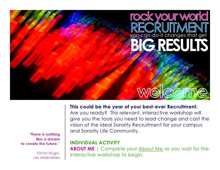 rock your world                                                  RECRUITMENT                                              ...