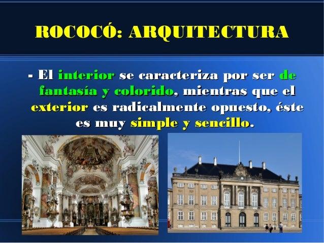 Rococ contexto hist rico caracter sticas de la arquitectura for Caracteristicas de la arquitectura