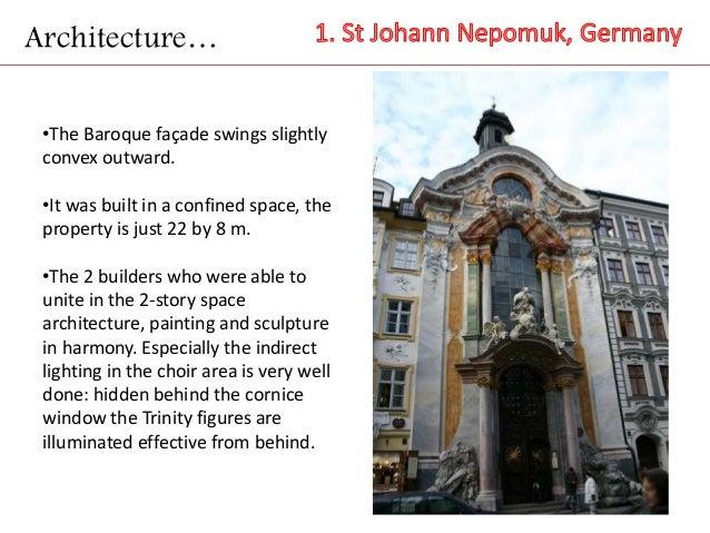 Rococo for Baroque architecture characteristics list