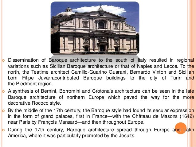 Rococo and baroque for Baroque architecture elements