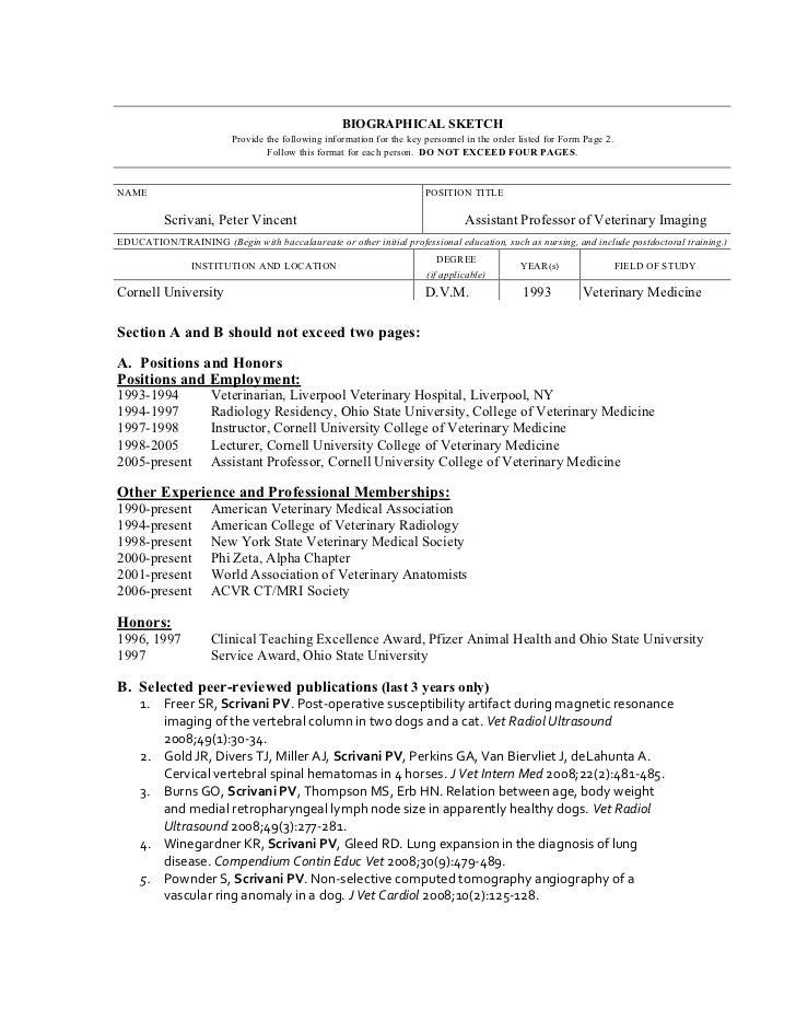 Cornell dissertation biographical sketch