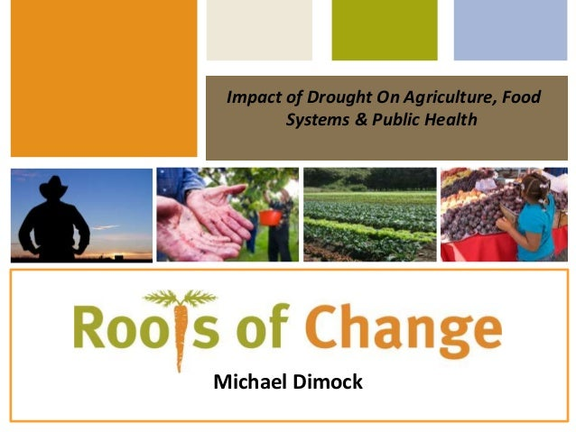 Impact of Drought On Agriculture, Food Systems & Public Health Michael Dimock