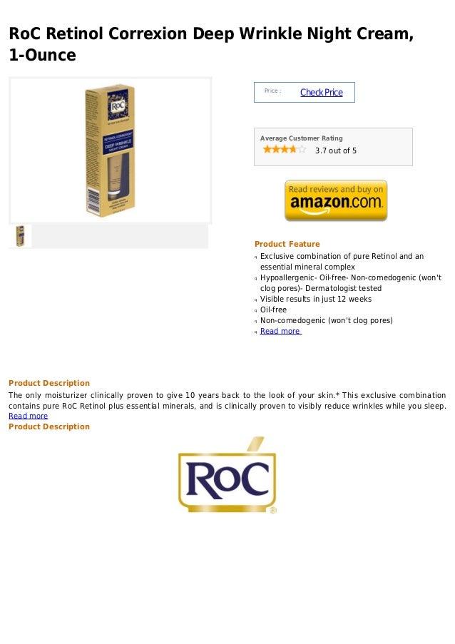 RoC Retinol Correxion Deep Wrinkle Night Cream,1-Ounce                                                                    ...