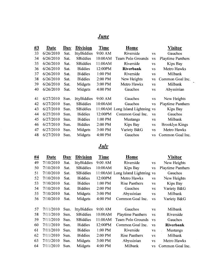 rod strickland summer league schedule 2010